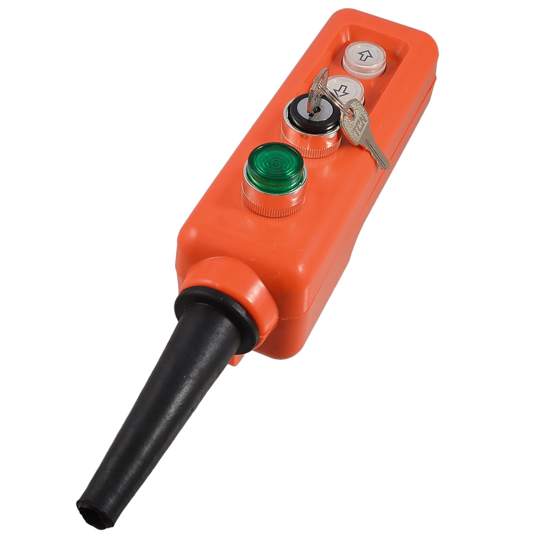 24V Keylock 3 Position Selector Green Lamp Up-down Hoist Push Button Switch - image 1 of 1