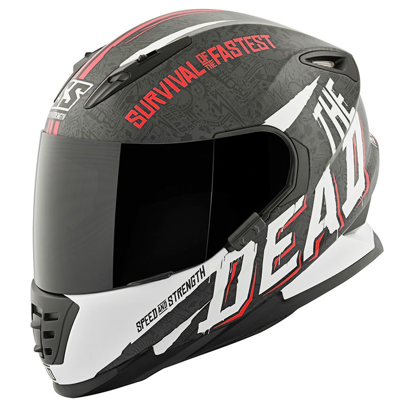 Speed & Strength SS1310 Quick And The Dead Helmet Black/White/Red