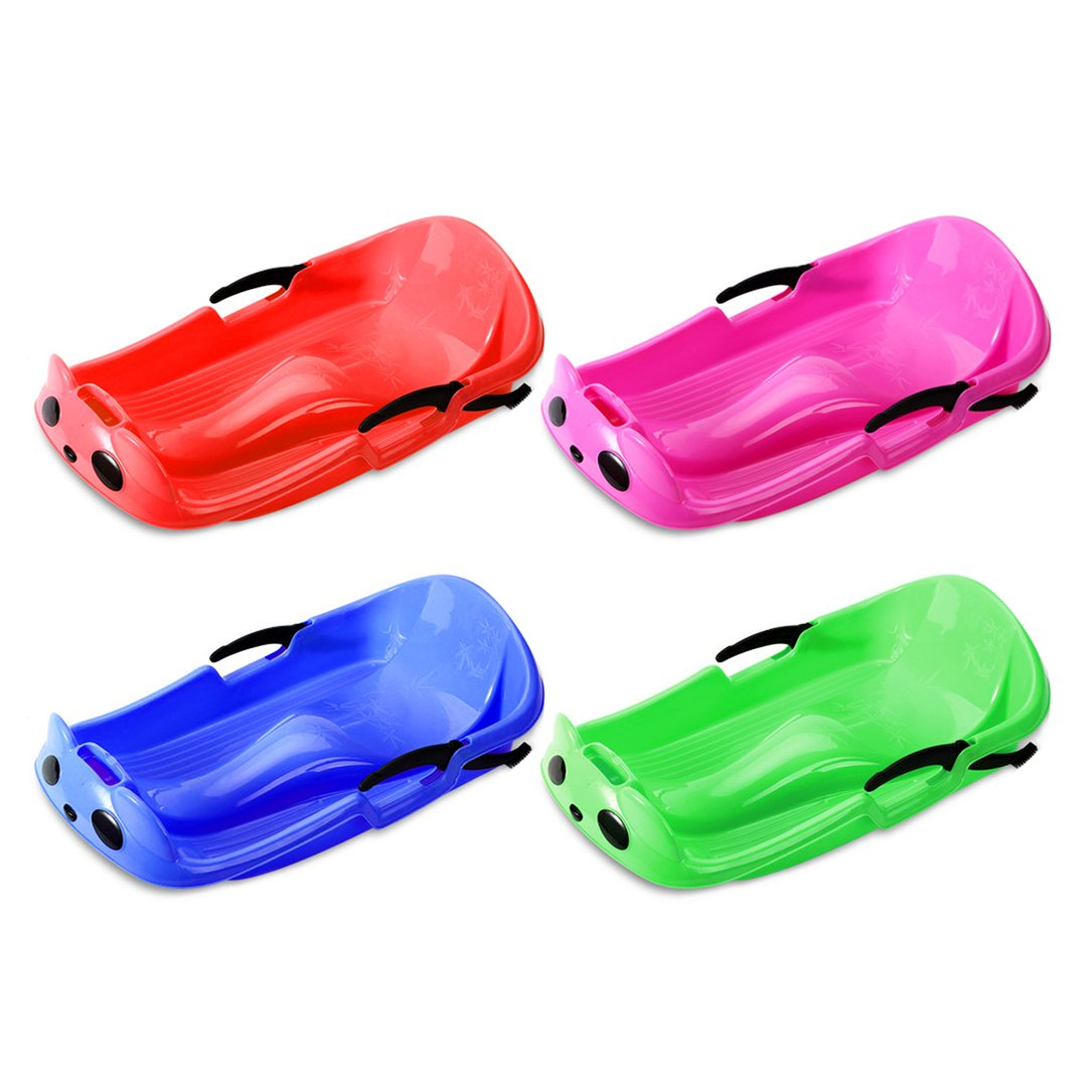 Wear-resistant Frost-resistant Thickened Sled Snowboard Grass Skiing Car Sliding Plate with Security Brake For Kids by