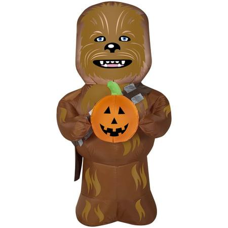 5' Star Wars Chewbacca w/Pumpkin Halloween - Star Wars Halloween Pumpkins