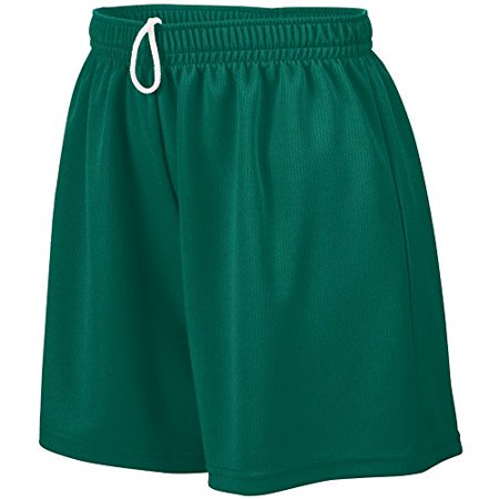 Augusta Sportswear WOMEN'S WICKING MESH SHORT S Dark Green (Augusta Sportswear Mesh Shorts)