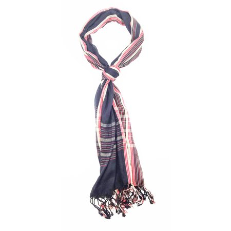 Womens Lightweight Plaid Scarves (Amtal Women Lightweight & Soft Viscose Stripes Plaid Checkered Scarf 20+ Design)