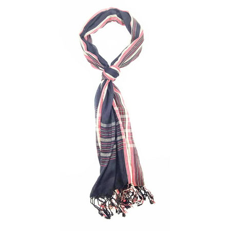 Amtal Women Lightweight & Soft Viscose Stripes Plaid Checkered Scarf 20+ Design