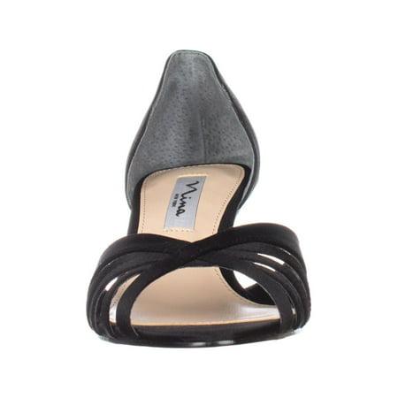 Nina Coella Open-Toe Dress Pump Heels, Black Luster - image 1 de 6