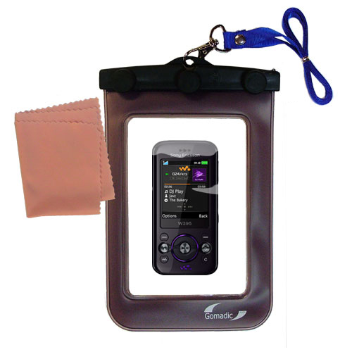 Gomadic Clean and Dry Waterproof Protective Case Suitablefor the Sony Ericsson W395 to use Underwater