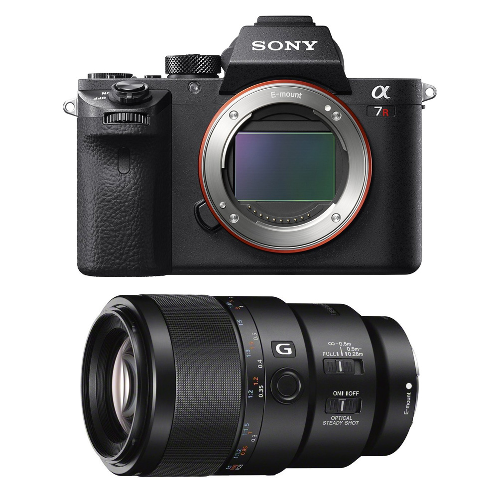 Sony a7R II Mirrorless Interchangeable Lens Camera Body with 90mm Lens Bundle - Includes Camera and FE 90mm F2.8 Macro G OSS Full-Frame E-Mount Macro Lens