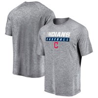 Men's Majestic Gray Cleveland Indians A Flying Leap Raglan T-Shirt