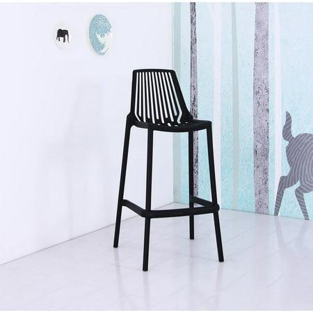 Amazing Us Pride Furniture Nina Plastic Full Stackable 29 5 Bar Stool Set Of 4 Black Bs908 Black Gamerscity Chair Design For Home Gamerscityorg