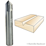 Whiteside 90 Degree V-Groove Router Bit with 1/4-Inch Cutting Diameter