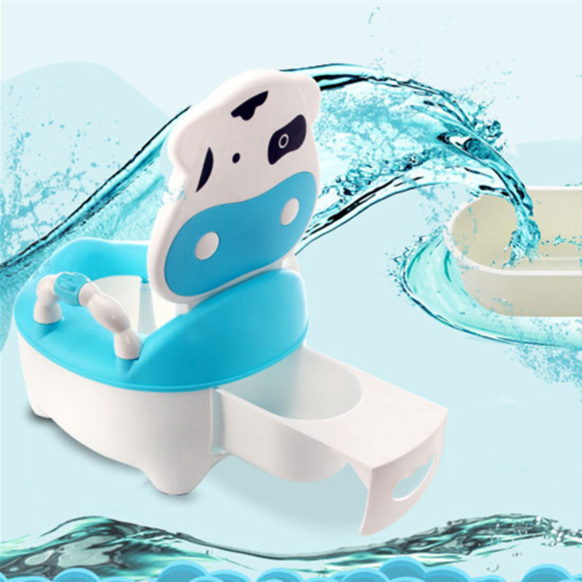 Cute Cow Seat Chair Pee Trainer Potty Toilet Training Summer Infant My Fun Potty for Girls