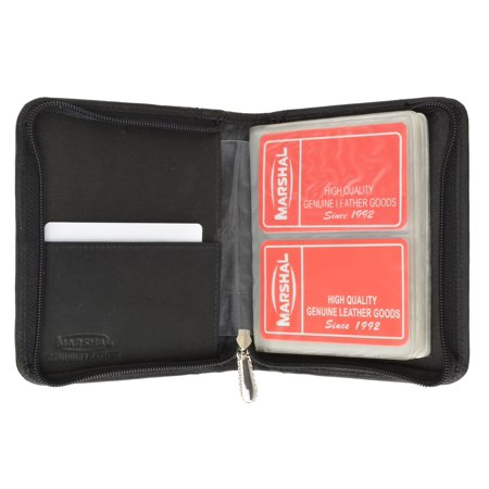Medium Genuine Leather Zip Around Business Credit Card Holder 2670 CF (C) Brown