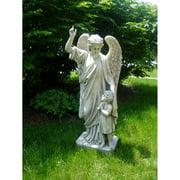 Design Toscano Guardian Angel Child's Prayer Garden Statue