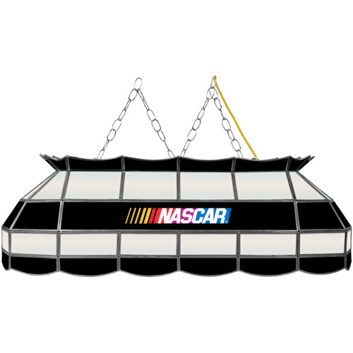 "Trademark Global NASCAR Logo 40"" Stained Glass Billiard Table Light Fixture"
