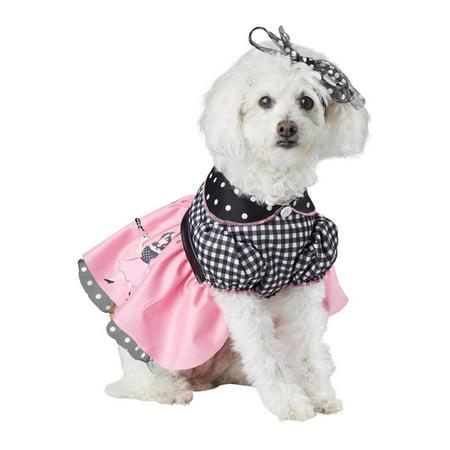 50s Poodle Pooch Pet Costume (50's T-bird Dog Costume)