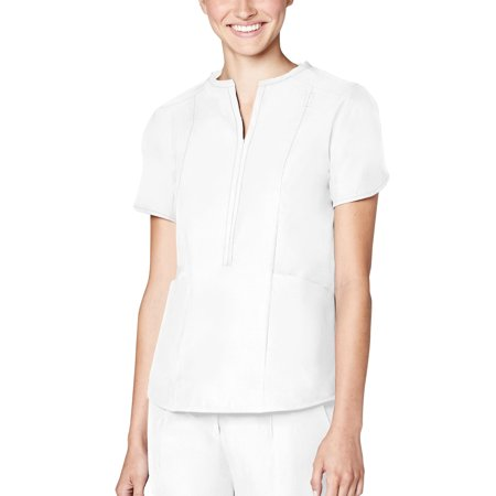 Adar Pro Scrubs For Women - Tailored Notch Neck Scrub Top