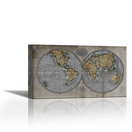 Map of the world contemporary fine art giclee on canvas gallery map of the world contemporary fine art giclee on canvas gallery wrap wall dcor publicscrutiny Gallery