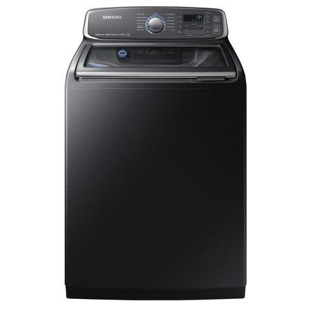 Samsung WA52M7750AV / WA52M7750AV/A4 5.2 Cu. Ft. Black Stainless Top Load Steam Washer
