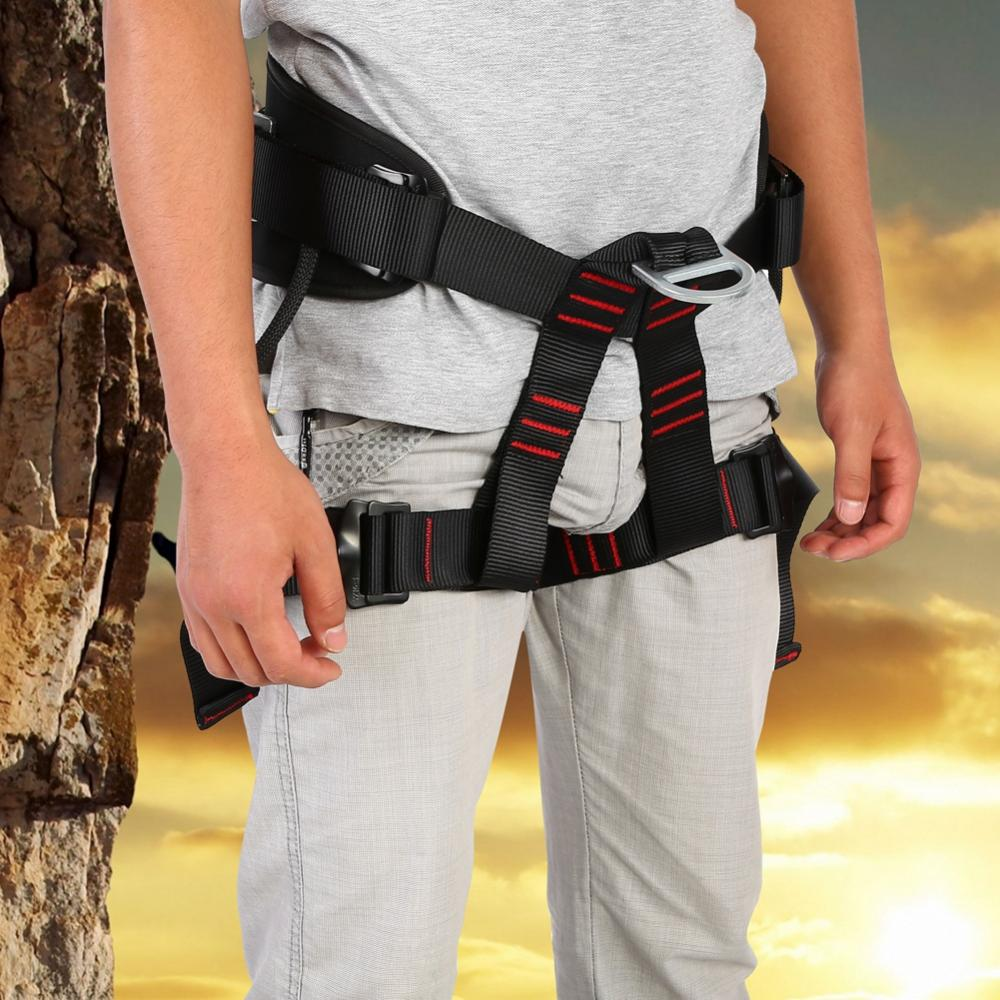 Outdoor Safety Harnesss Strap Rope with Buckle Waist /& Back Protection Belt
