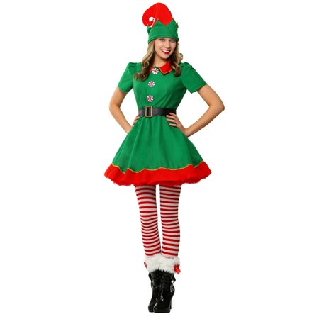 Womens Holiday Elf Plus Size Costume - Plus Size Green Fairy Costume