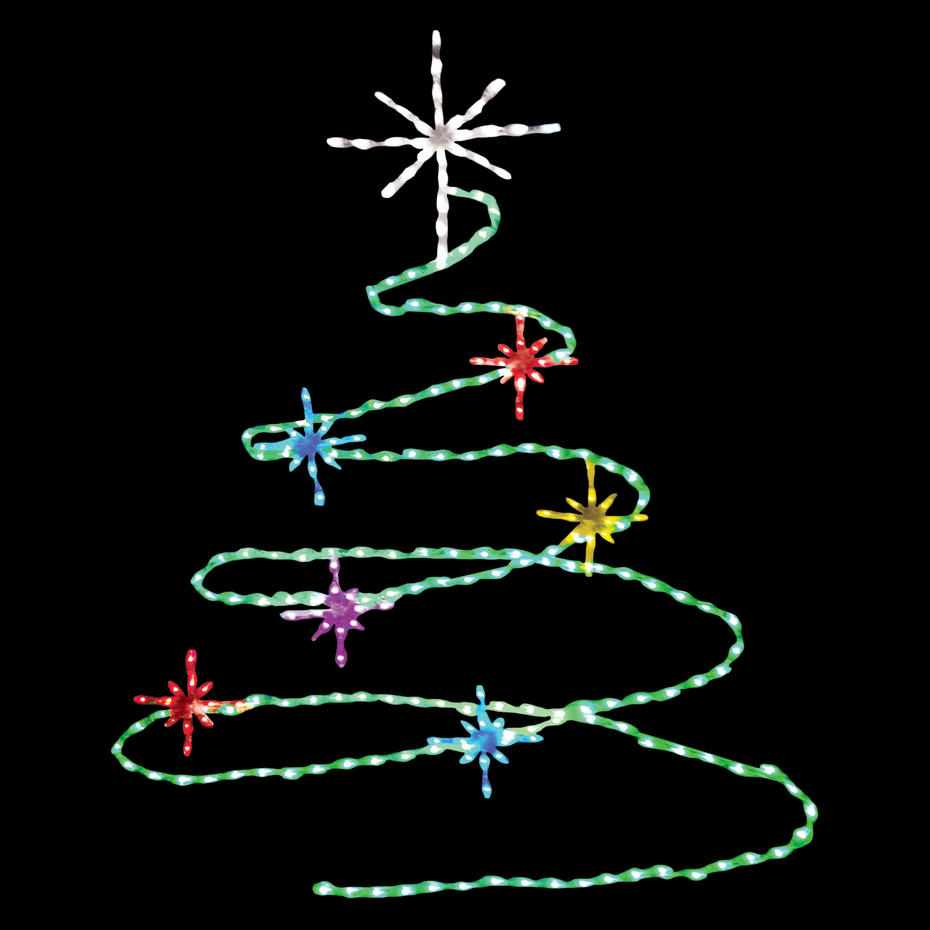 72 in. LED Spiral Tree Lighted Display - 248 Bulbs