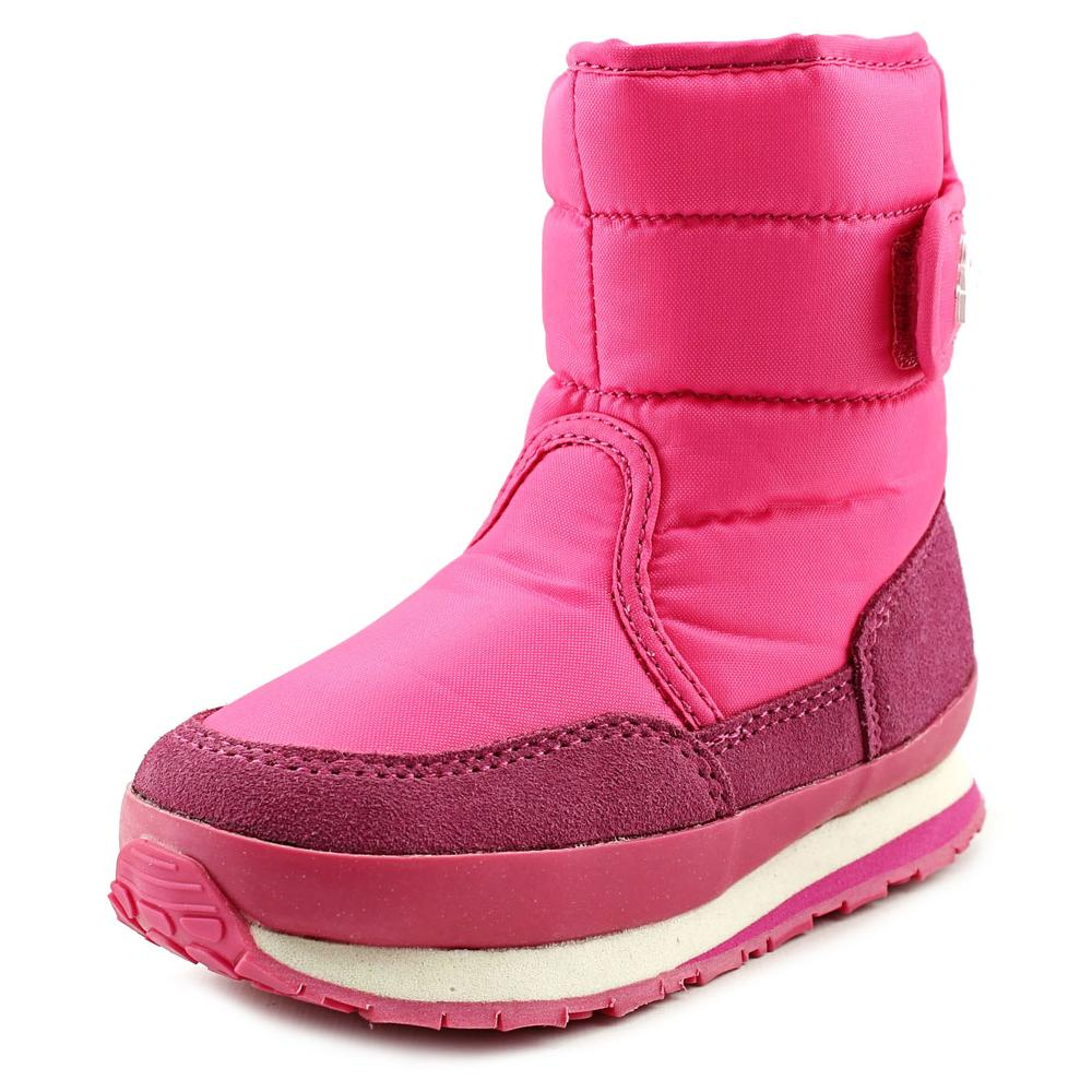 Rubber Duck Classic Snow Jogger Youth  Round Toe Synthetic Pink Winter Boot