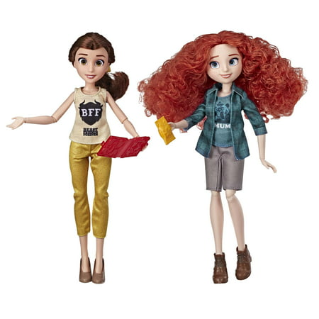 Disney Princess Ralph Breaks the Internet Movie Dolls Belle and Merida](Hawaiian Disney Princess)