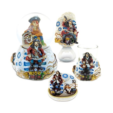 Thru Valve - Puzzled Pirate Resin Stone Collection Jewelry Box,Snow Globe,Magnet Bottle Op