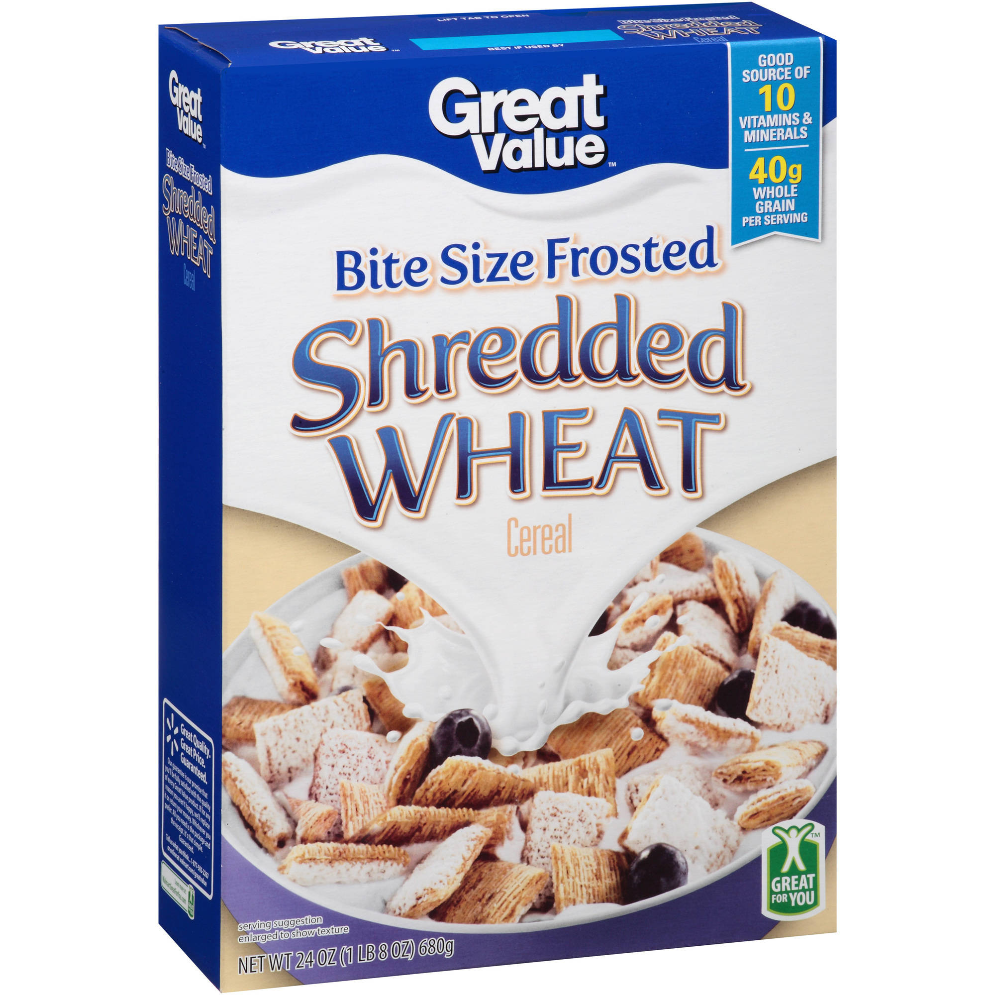 Great Value: Frosted Shredded Wheat Cereal, 24 Oz