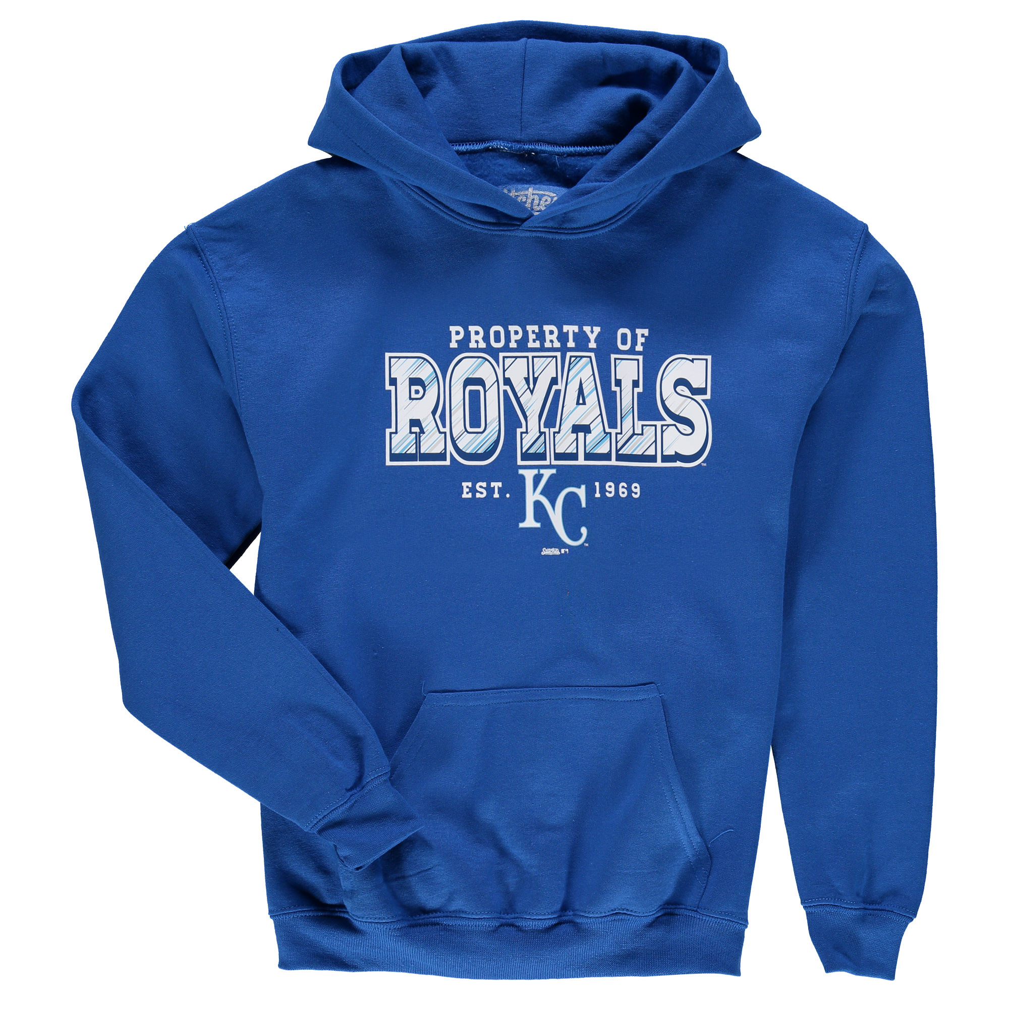 Kansas City Royals Stitches Youth Property Of Team Hoodie - Royal