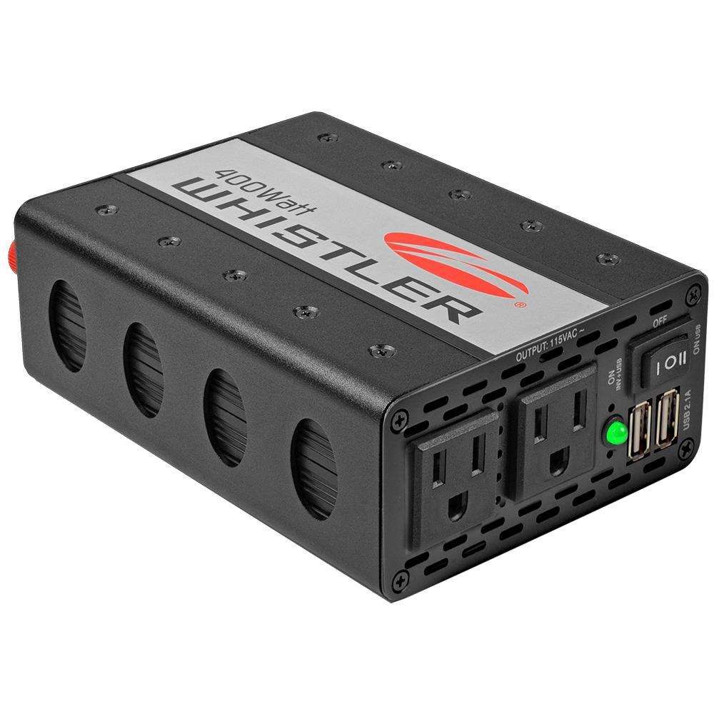 Whistler 400W Power Inverter with 12V Cable and Battery Clamps