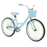 "Kent 24"" Girls', La Jolla Cruiser Bike, Light Blue, For 4'6"" Height Sizes and Up"