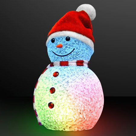 FlashingBlinkyLights Color Changing LED Snowman Light Up Decoration