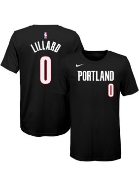 premium selection 09470 dac9c Product Image Damian Lillard Portland Trail Blazers Nike Youth Name    Number T-Shirt - Black