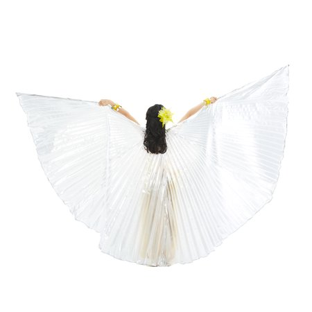 BellyLady Exotic Belly Dance Isis Wings for Children Kids-Silver - Painting Your Belly For Halloween