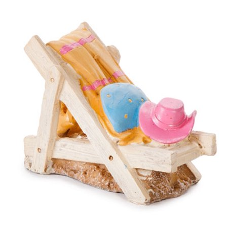 Beach Lounge Chair Miniature Fairy Garden Accent Figurine Mini Coastal Décor New ()