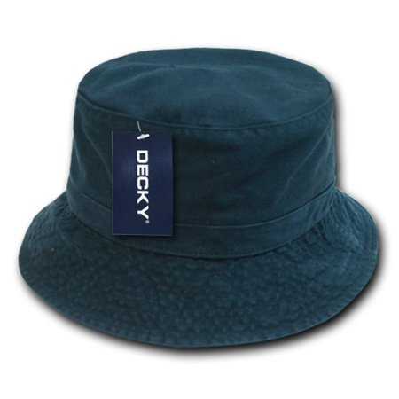 Navy Blue Jungle - Navy Blue Fishermans Fishing Hunting Army Military Bucket Jungle Safari Cap Hat-L / XL