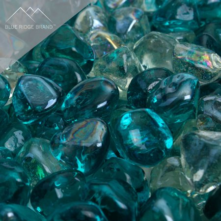 "Image of ""Blue Ridge Brand Reflective Fire Glass Diamonds - Professional Grade Fire Pit Glass - 1"""" Reflective Glass for Fire Pit and Landscaping - Bulk and Contractor Quantities Available"""
