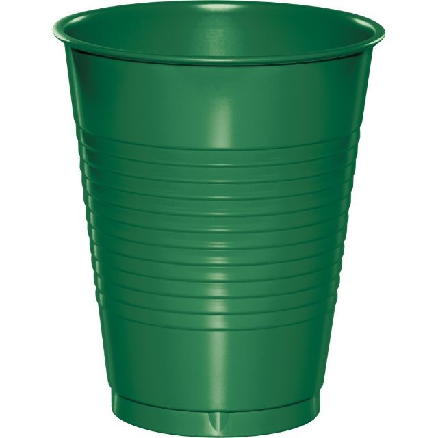 Touch of Color Plastic Cups, 16 Oz, Emerald Green, 20 Ct