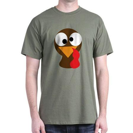 fd643965 Cafepress - Funny Turkey Thanksgiving Face - 100% Cotton T-Shirt -  Walmart.com