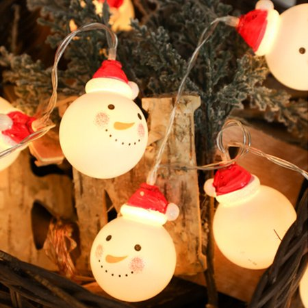 Christmas Lights,2M Christmas Snowman Lights String with 20 Warm White Led Lights for Christmas Decoration Christmas Party