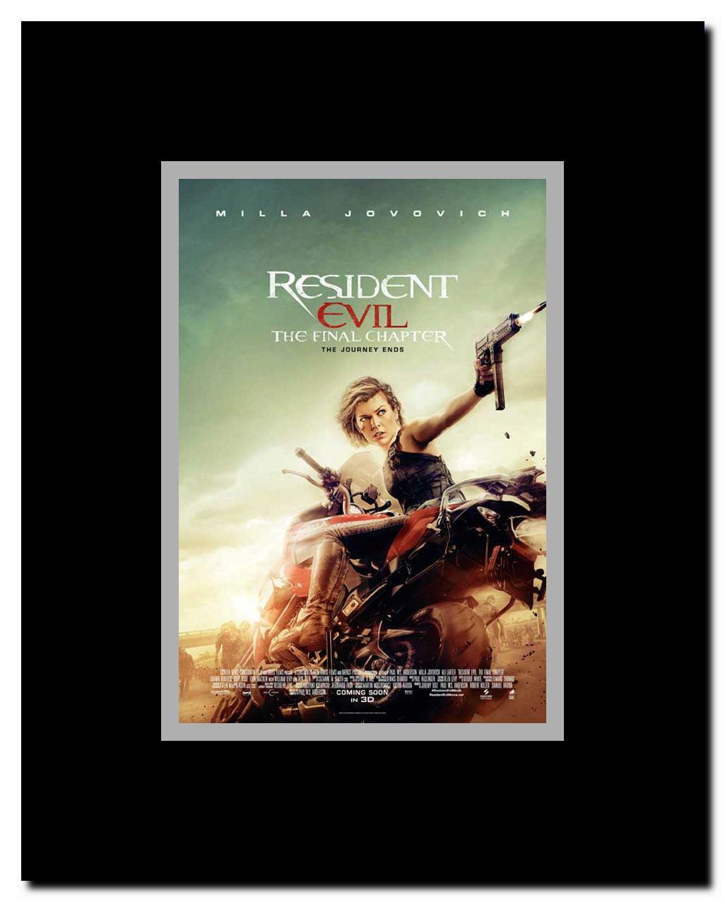 Resident Evil The Final Chapter Framed Movie Poster Walmart Com