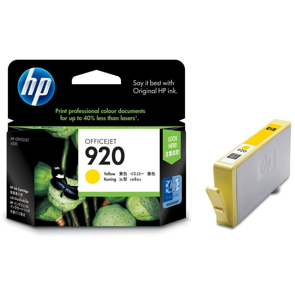 HP 920 (CH636AN) Yellow Original Ink Cartridge (300 Yield)