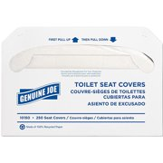Genuine Joe Toilet Seat Covers, White, 250 count, 10 pack by Generic