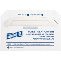 Genuine Joe Toilet Seat Covers, White, 250 count, 10 pack by Toilet Seat Covers