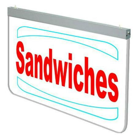 Image of Actiontek Acrylic LED Sign - Sandwiches