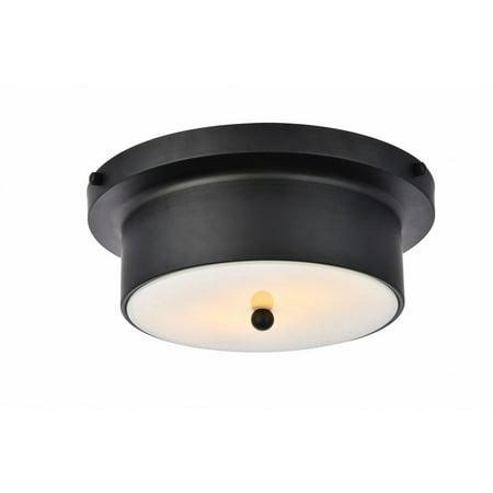 Flat Black Single Light (Hamlin 2 light 12 inch flat black flush mount )