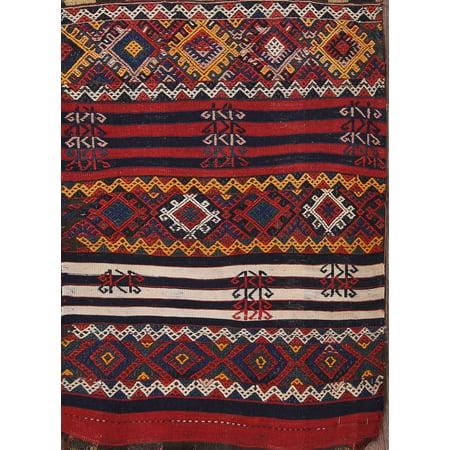 RugSource Hand-Knotted Antique Sumak 2x3 Kazak Caucasian Oriental Area Rug Wool