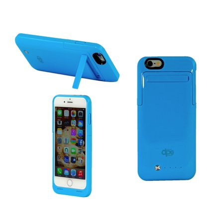 iPhone 6s Case, Dynamic¬ External [Battery Case] [3500 mAh] iPhone 6 / 6s Protective Case [Portable Charger] *NEW* [SLIM Fit] Stylish, Smooth & Slim Powerbank Battery [Kickstand] Hard Cover - Blue