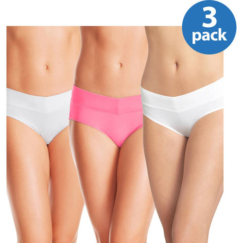 Blissful Benefits by Warner's No Muffin Top Hipster Panties 3PK