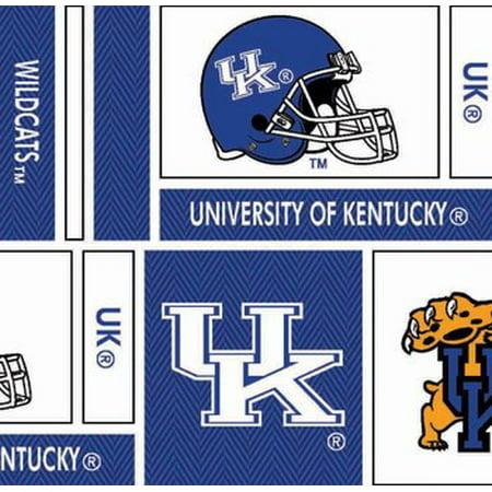 Kentucky Wildcats Fabric - University of Kentucky Cotton Fabric Geometric Herringbone Design-Sold by the Yard